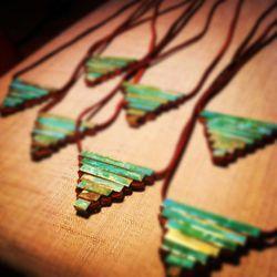 "<a href=""http://www.etsy.com/listing/152226695/teocali-necklace-patina-brass?"">Patina Brass Teocali Necklace</a>, $34"