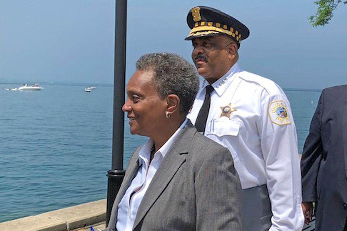Mayor Lori Lightfoot and CPD Supt. Eddie Johnson