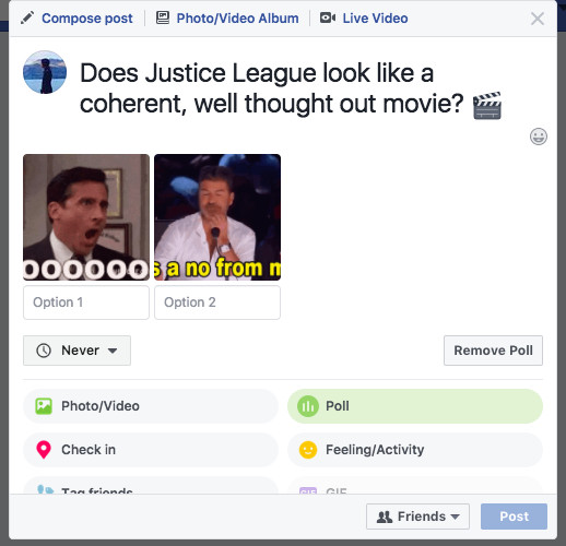 Facebook rolls out GIF-supported polls feature to web and mobile
