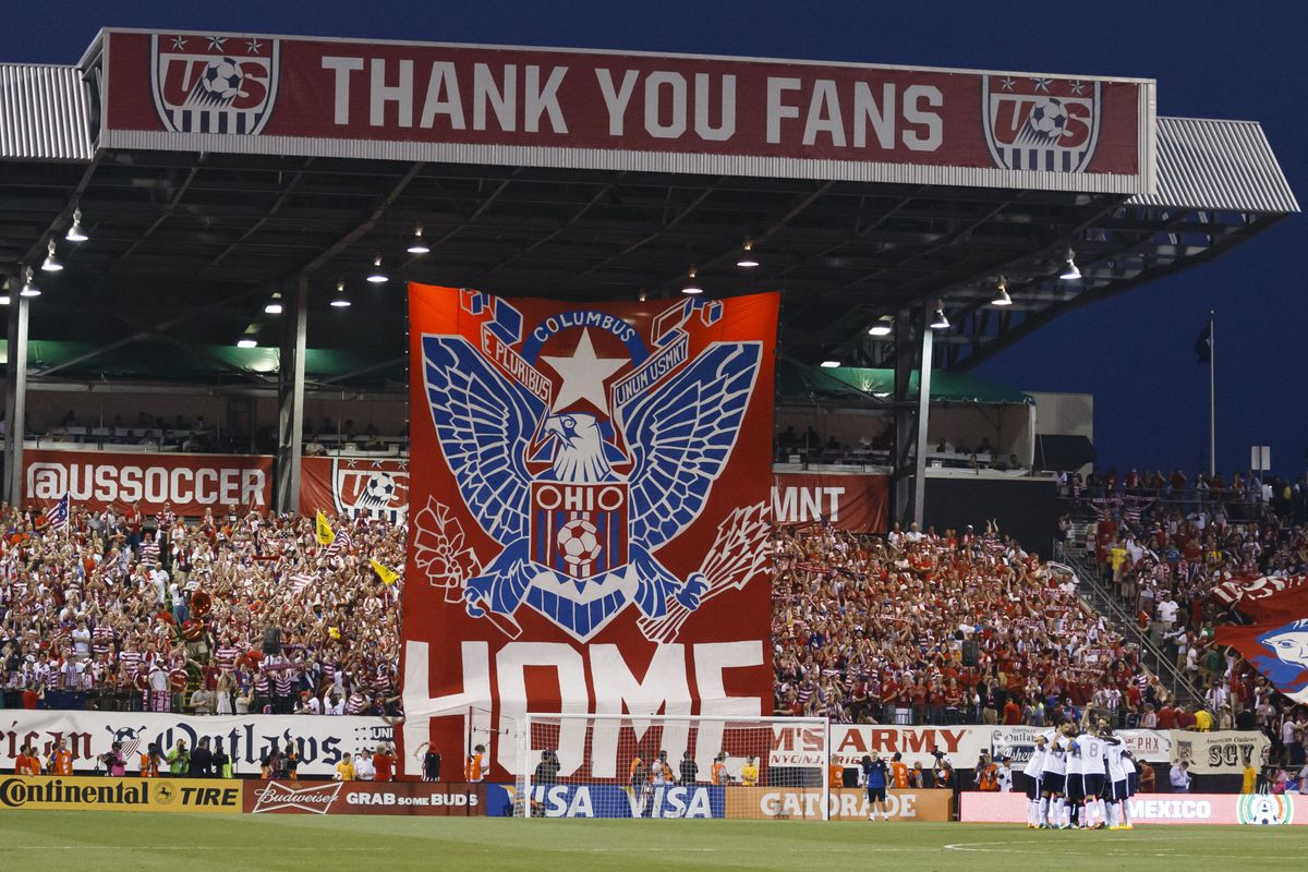 This tifo is SO LAST WEEK. Then: Columbus, sacred cradle of dos a cero. Now: Manure-besmirched cow-town mostly notable for hosting various Fire triumphs in last 14 years.