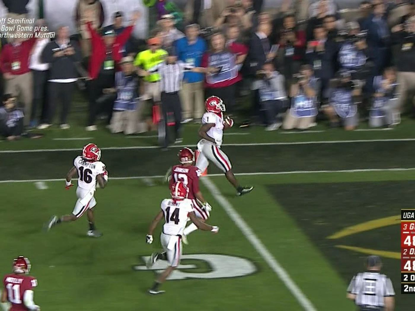 Georgia beats Oklahoma on Sony Michel TD in Rose Bowl semifinal ...
