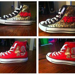 "<a href=""https://www.etsy.com/listing/121747918/custom-san-francisco-49ers-canvas-shoes?ref=sr_gallery_6&ga_search_query=san+francisco+49ers&ga_order=most_relevant&ga_ref=auto1&ga_search_type=handmade&ga_view_type=gallery""> Custom Converse</a>, $100."