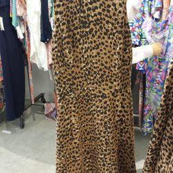 Leopard Circle Dress, $110