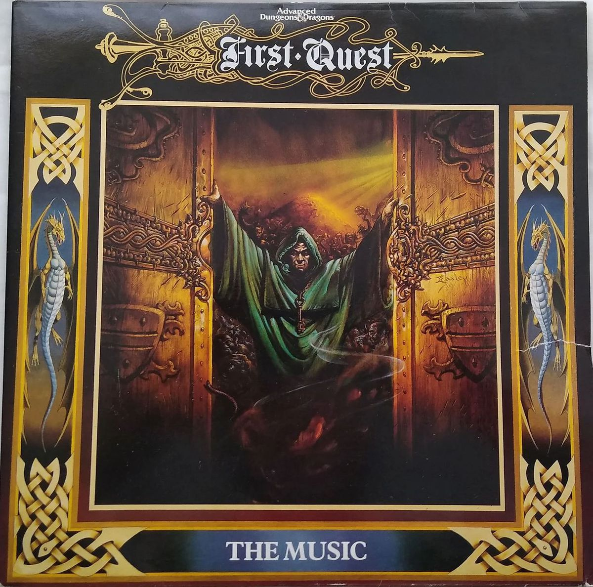 The cover art for First Quest, featuring art by Easley seen on the cover of the DMG.