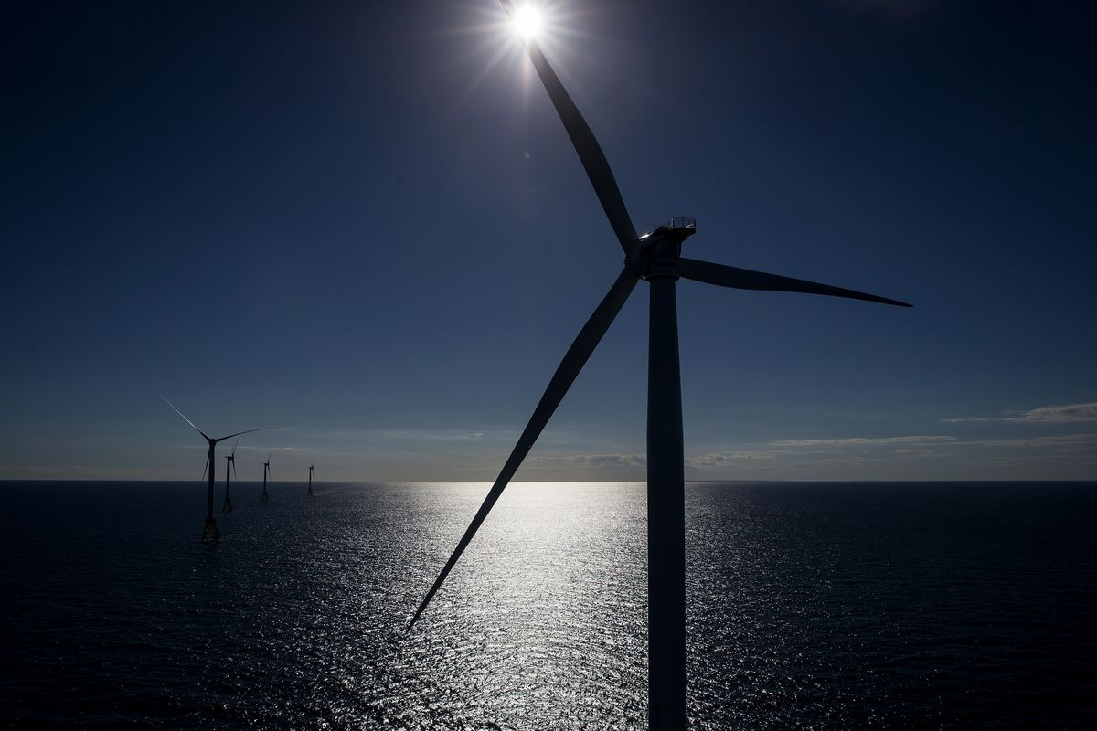 Views Of General Electric Co.'s First U.S. Offshore Wind Farm