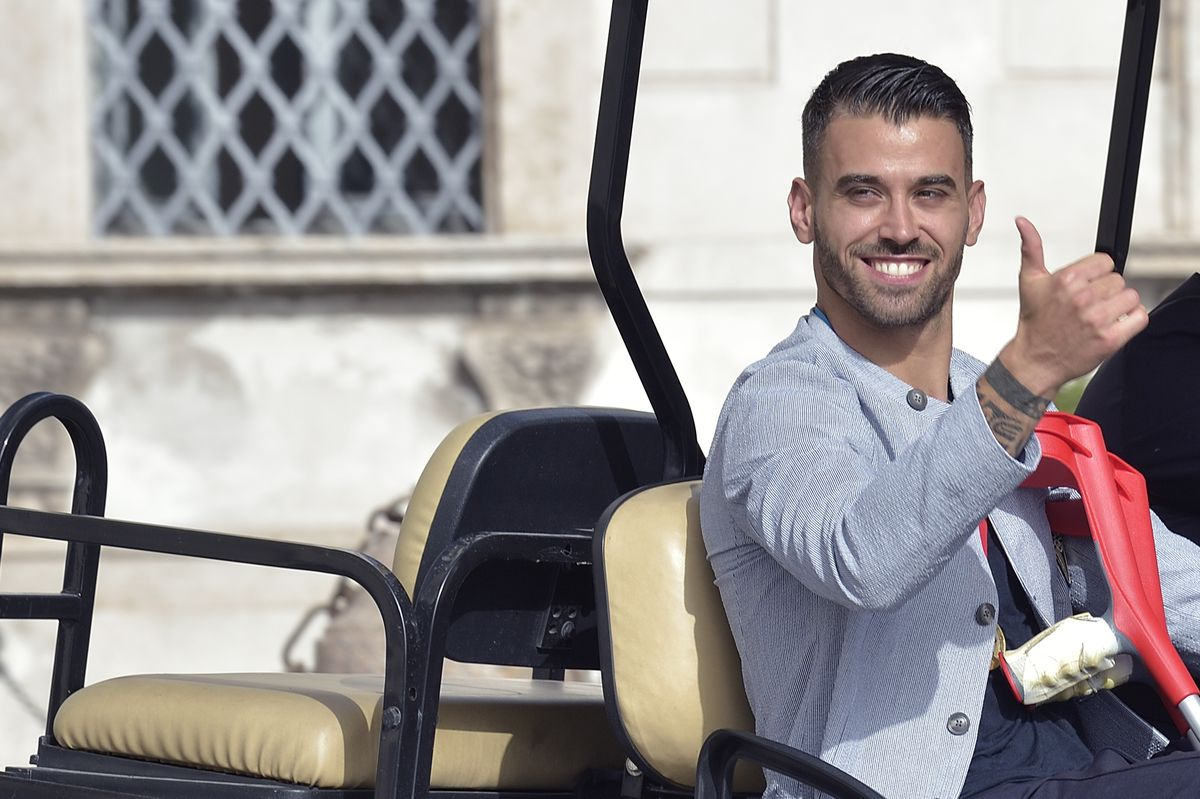 The Italian national football team at the Quirinale