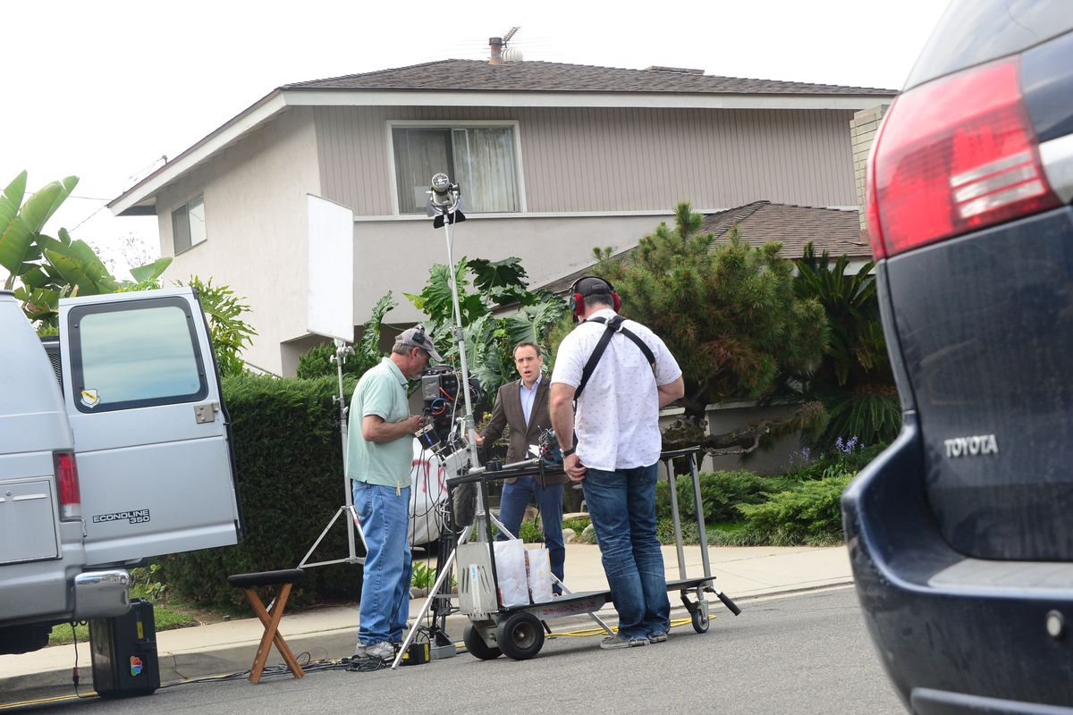 The media gathered outside Dorian Nakamoto's home on March 7, the day Newsweek named him as Bitcoin's creator.