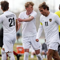 Springville hosts Wasatch in a boys soccer game on Tuesday, March 23, 2021.
