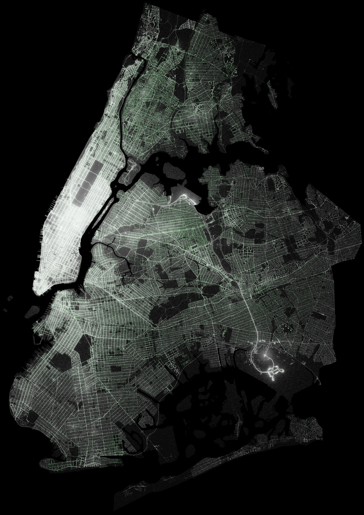 This gorgeous map shows every taxi ride in new york city since 2009 todd w schneider sciox Image collections