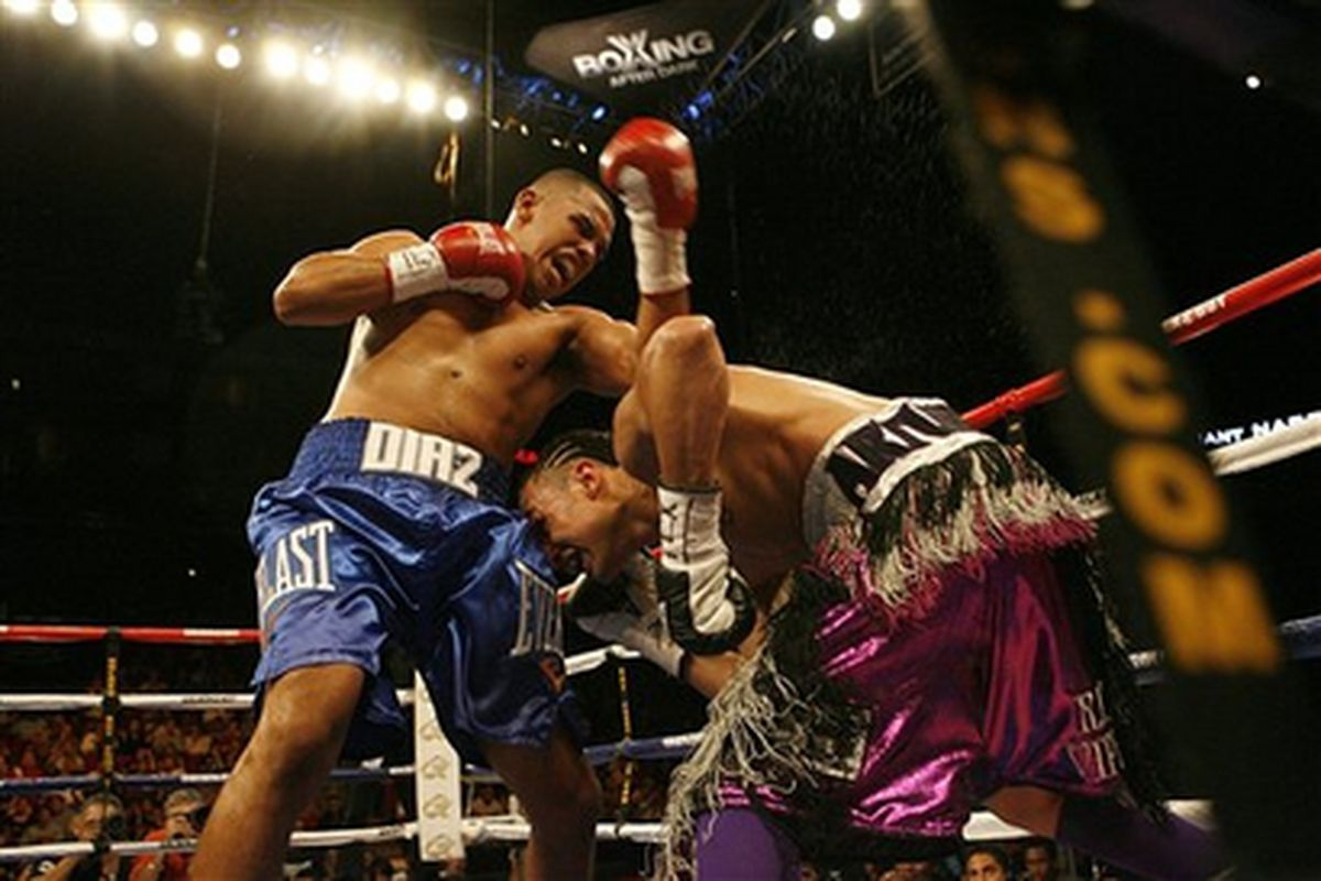 Juan Diaz joins the choir in dismissing Gale Van Hoy's controversial scorecard from Saturday night. He's also looking ahead to potential fights with Juan Manuel Marquez and Ricky Hatton. (AP Photo)