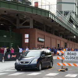 4:48 p.m. Waveland Avenue still closed to westbound traffic -