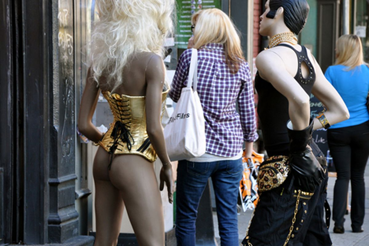 """Mannequins take to the streets.  Via <a href=""""http://www.flickr.com/photos/essgee/3954745134/in/pool-rackedny/"""">EssG</a>/Racked Flickr Pool"""