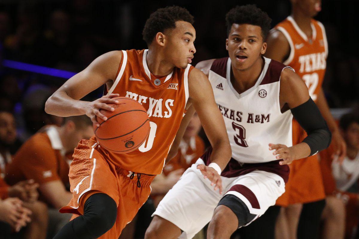 texas basketball beats texas a&m 73-69 in exhibition game - burnt