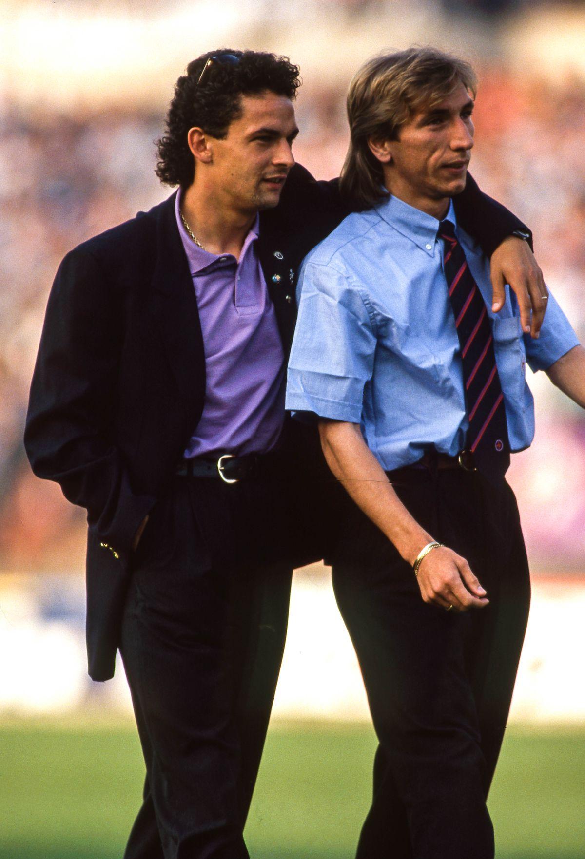 Juventus Turin v Fiorentina - UEFA Cup Final, first leg 1990