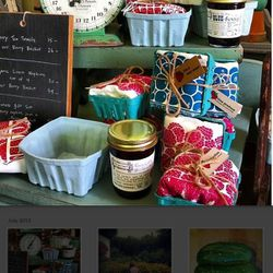 """<a href=""""http://instagram.com/heirloomhomeandstudio?"""">@heirloomhomeandstudio</a>: Handmade porcelain berry baskets in shades of robin's egg blue. Family vacation candids. Kids behind pennant garland-draped lemonade stands. We can't even with this Instagra"""