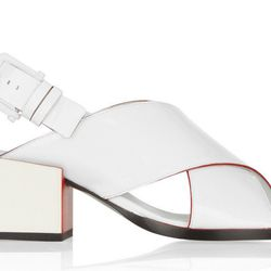 "<b>Jil Sander</b> Patent-leather sandals, <a href=""http://www.net-a-porter.com/product/402485/Jil_Sander/patent-leather-sandals"">$695</a>"
