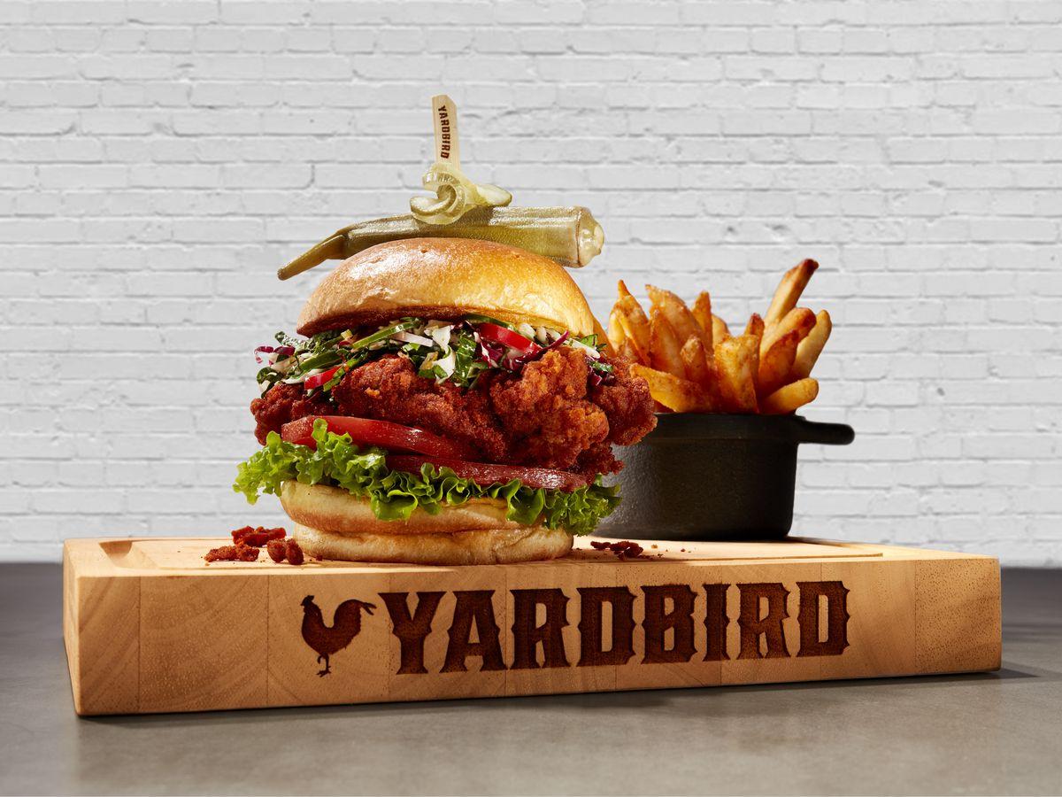Nashville hot chicken sandwich at Yardbird