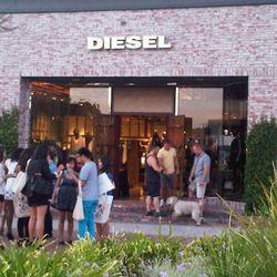 Crowd outside Diesel