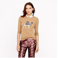 """<a href=""""http://www.jcrew.com/womens_category/sweaters/Patterned/PRDOVR~05956/05956.jsp"""">Camel Sweater</a>, $98 at J.Crew"""
