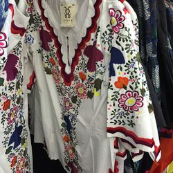 Figue embroidered top, $35