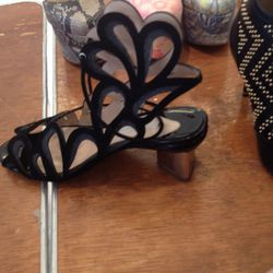 Embellished sandal, $500