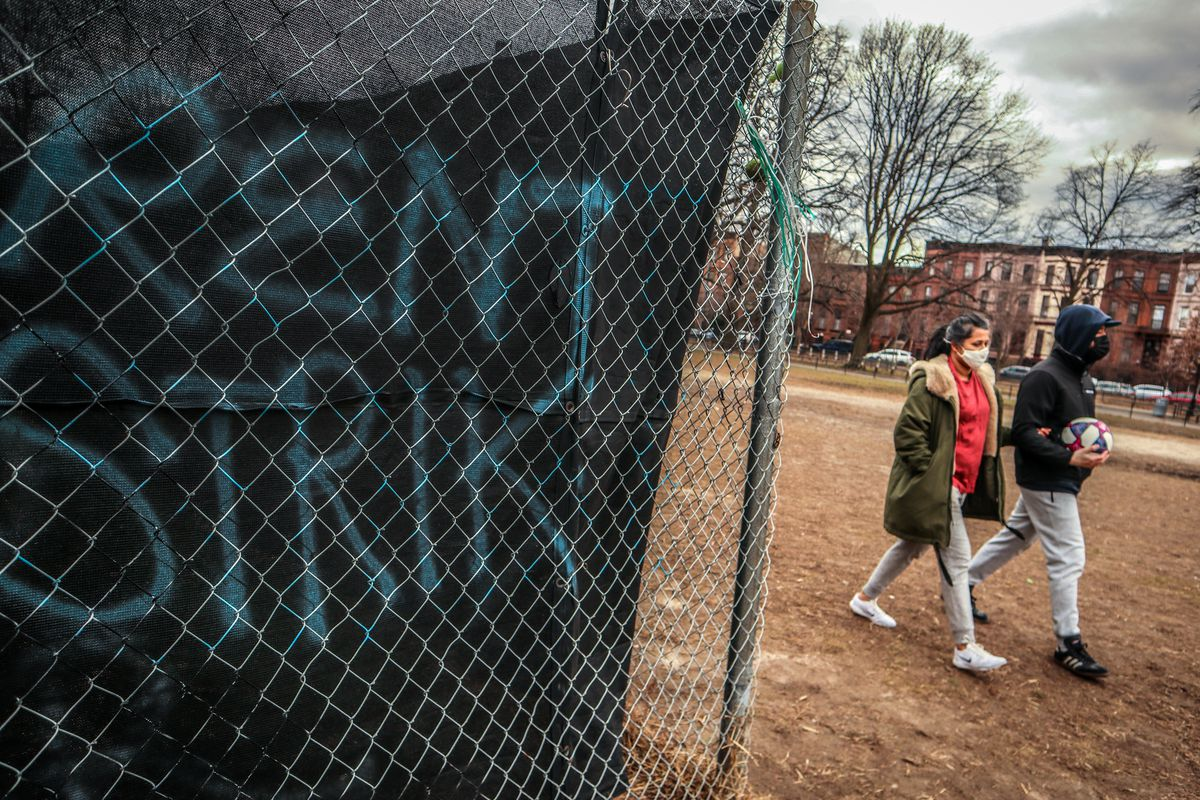 A sign of economic struggles in Bed-Stuy, Brooklyn during the coronavirus outbreak, Jan. 18, 2020.