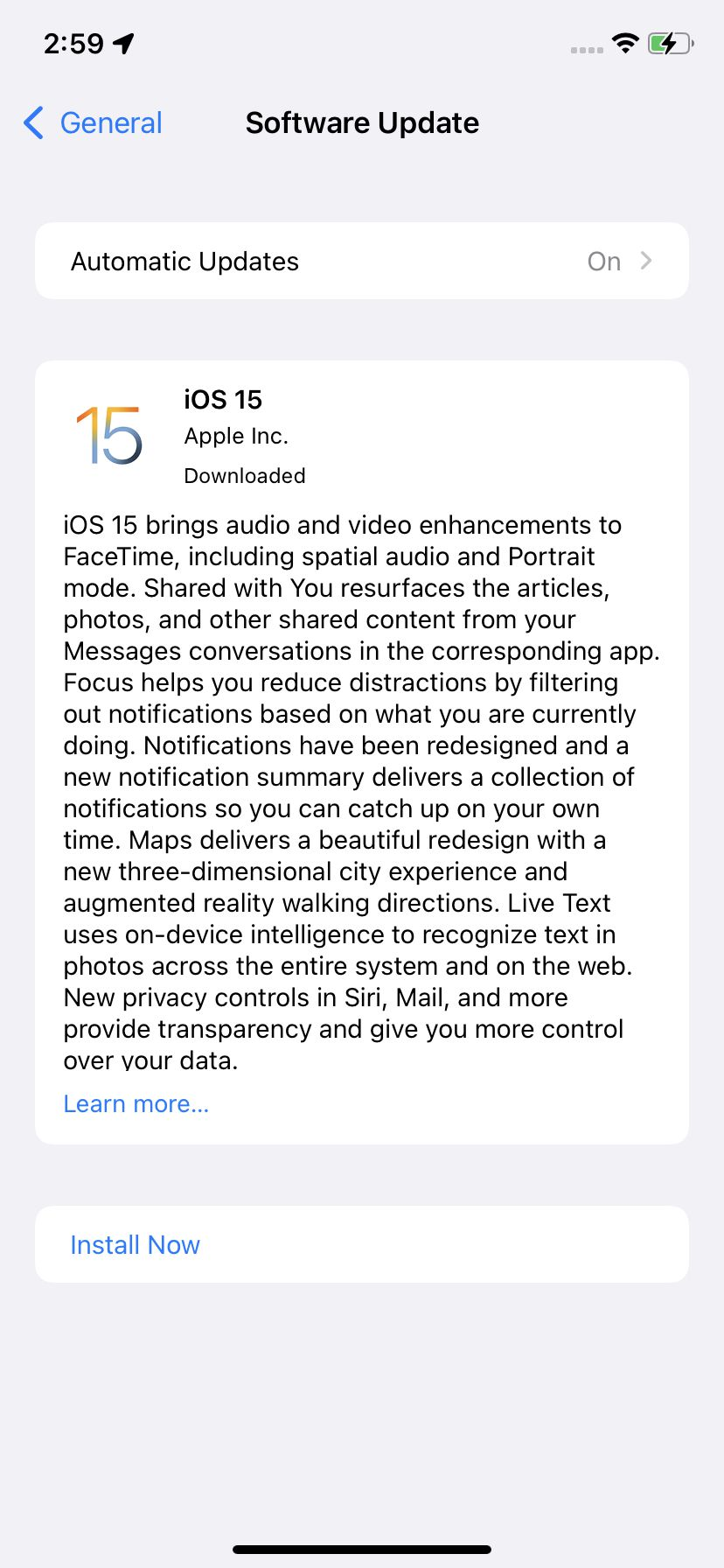 Your update to iOS 15 may be waiting for you.