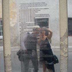 """Elena Brennan, owner, <a href=""""http://philly.racked.com/places/bus-stop"""">Bus Stop</a>: One of my favorites was Vilnius, the capital of Lithuania. I had no idea that the city, once part of Russia, had such a cultural art scene! This photo was taken in fron"""