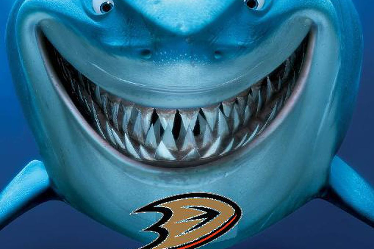 """""""Finding Nemo"""" is my 81st-favorite movie of all time, and it's also a great source for Sharks-related images."""