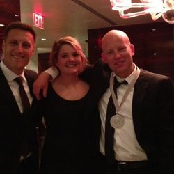 At Marea, the winning wine team from Frasca Food and Wine- Carlin Karr, Bobby Stuckey, Matthew Mather.