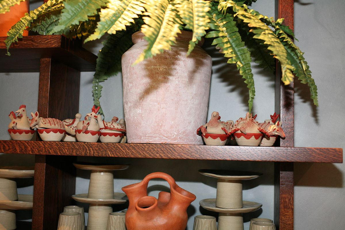 Traditional Central American ceramics at Kol, Santiago Lastra's new Mexican restaurant in central London