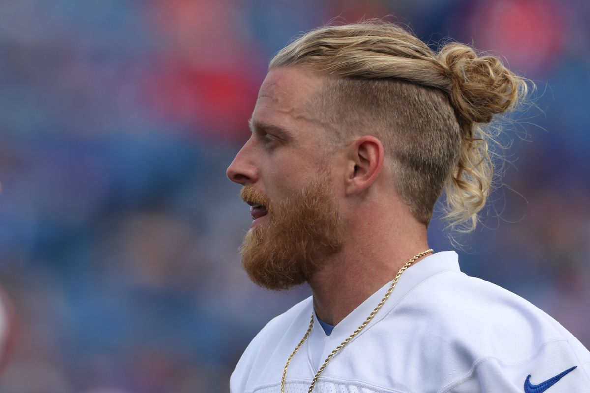 Cole Beasley #11 of the Buffalo Bills during training camp at Highmark Stadium on July 31, 2021 in Orchard Park, New York.