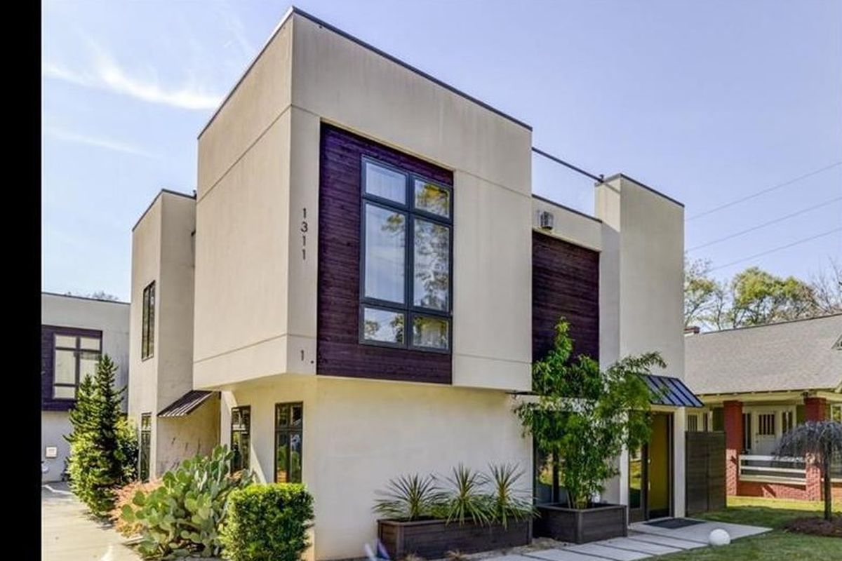 A modern home for sale in Edgewood Atlanta right now.