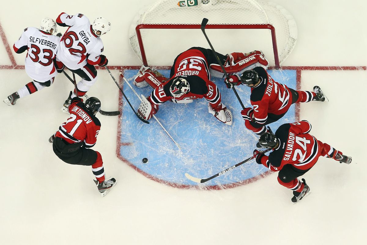 The Devils were often in their own end today; especially when the Captain was on the ice at even strength.