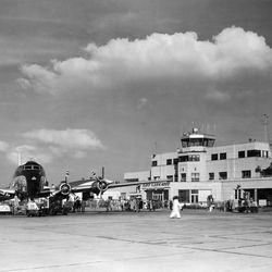 The Salt Lake Municipal Airport is photographed on Nov. 19, 1952.