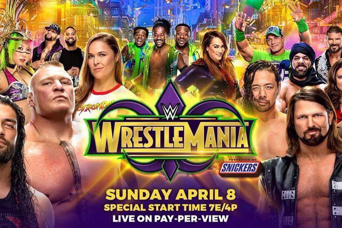 Wrestlemania 34 Live