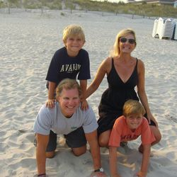 Heather Ouida teaches online parenting classes and has a blog, as well as offering other parenting resources. Here, the New York mom plays with her family: husband, Jordan, and sons, Chris, 10, and Nicky, 7.