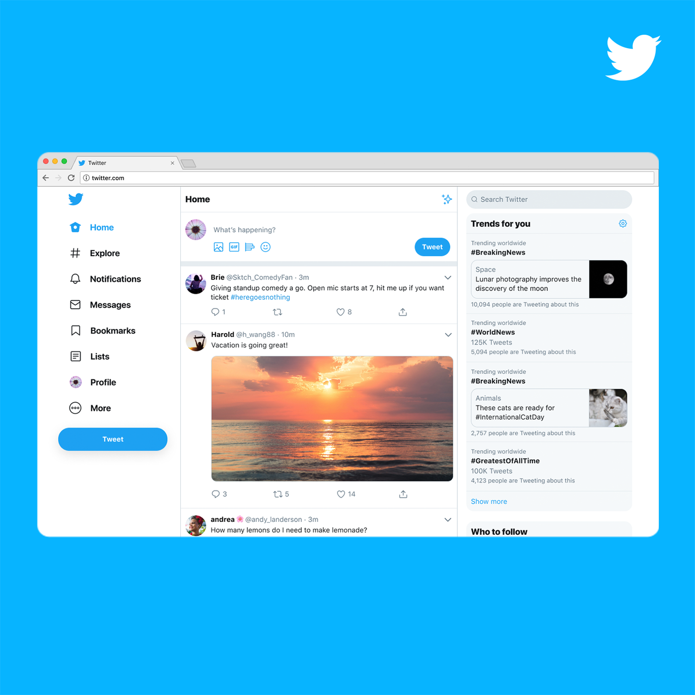 Twitter desktop redesign adopts some of its mobile app's best