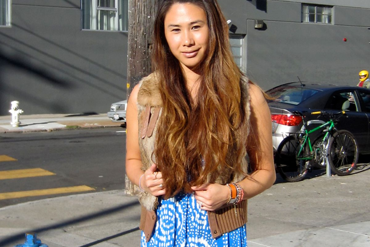 Esther and her envy-inducing beachy waves
