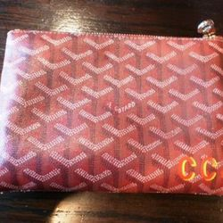 Monogrammed Goyard Makeup Bag