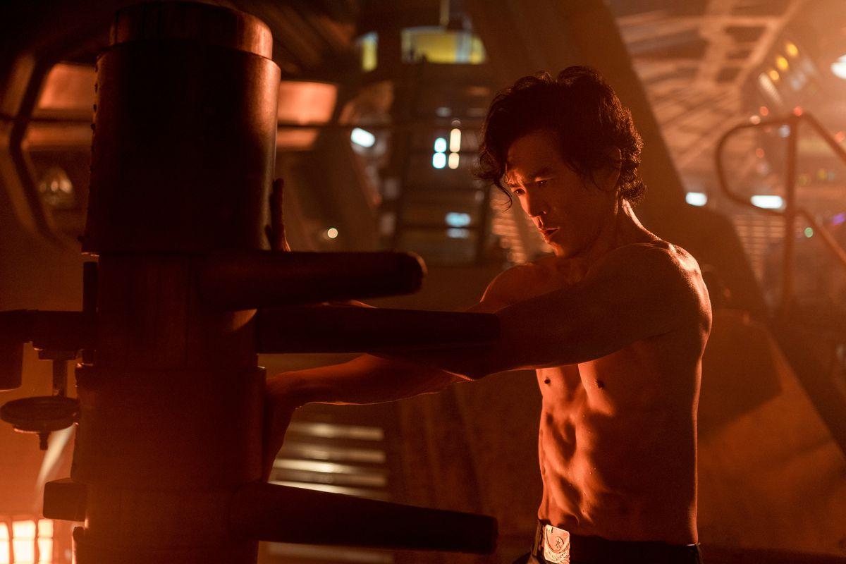 John Cho training in Netflix's Cowboy Bebop