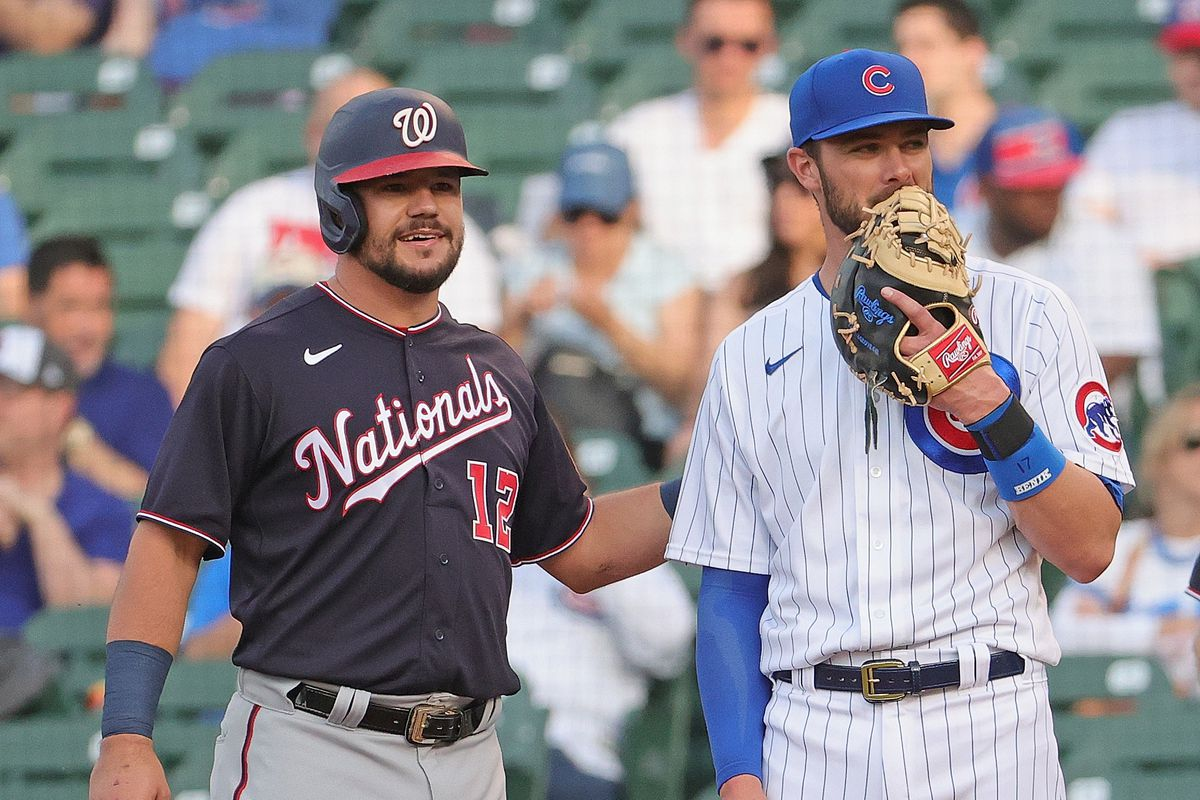 Kris Bryant — make that first baseman Kris Bryant — may or may not have been asking Kyle Schwarber about the free-agent experience.