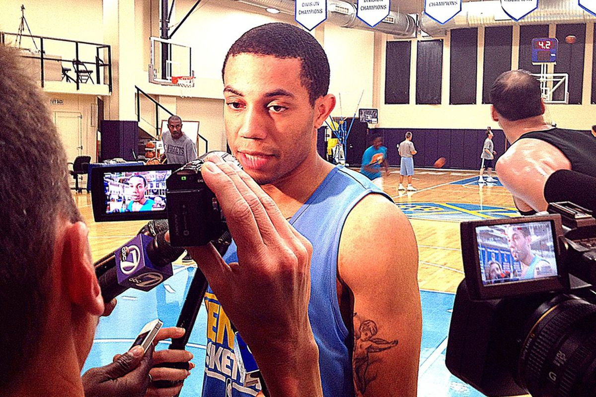 Erick Green after his workout with the Nuggets.