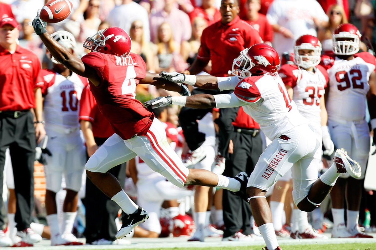 Arkansas and Alabama will be the first CBS game of the year.