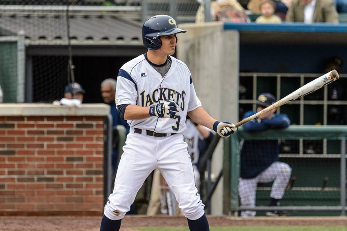 Senior Mott Hyde collected three of the team's four hits in Saturday's game against the Pitt Panthers