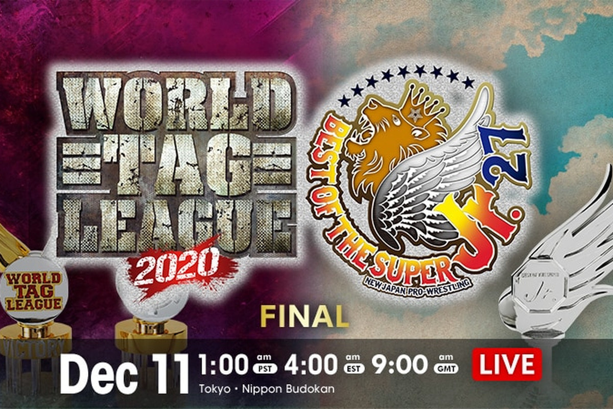 Non-spoiler showtime graphic for World Tag League 2020 / Best of the Super Jr. 27 finals