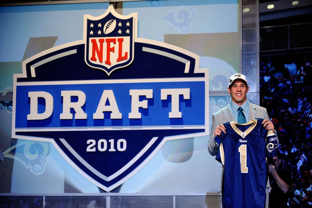 Sam Bradford is lucky he was drafted last year...  (Photo by Jeff Zelevansky/Getty Images)