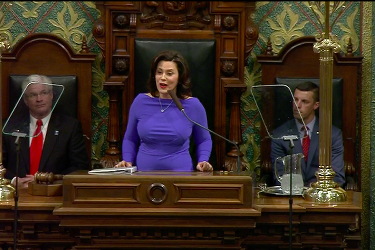 Gov. Gretchen Whitmer delivers her first State of the State address on Tuesday, Feb. 12, 2019.