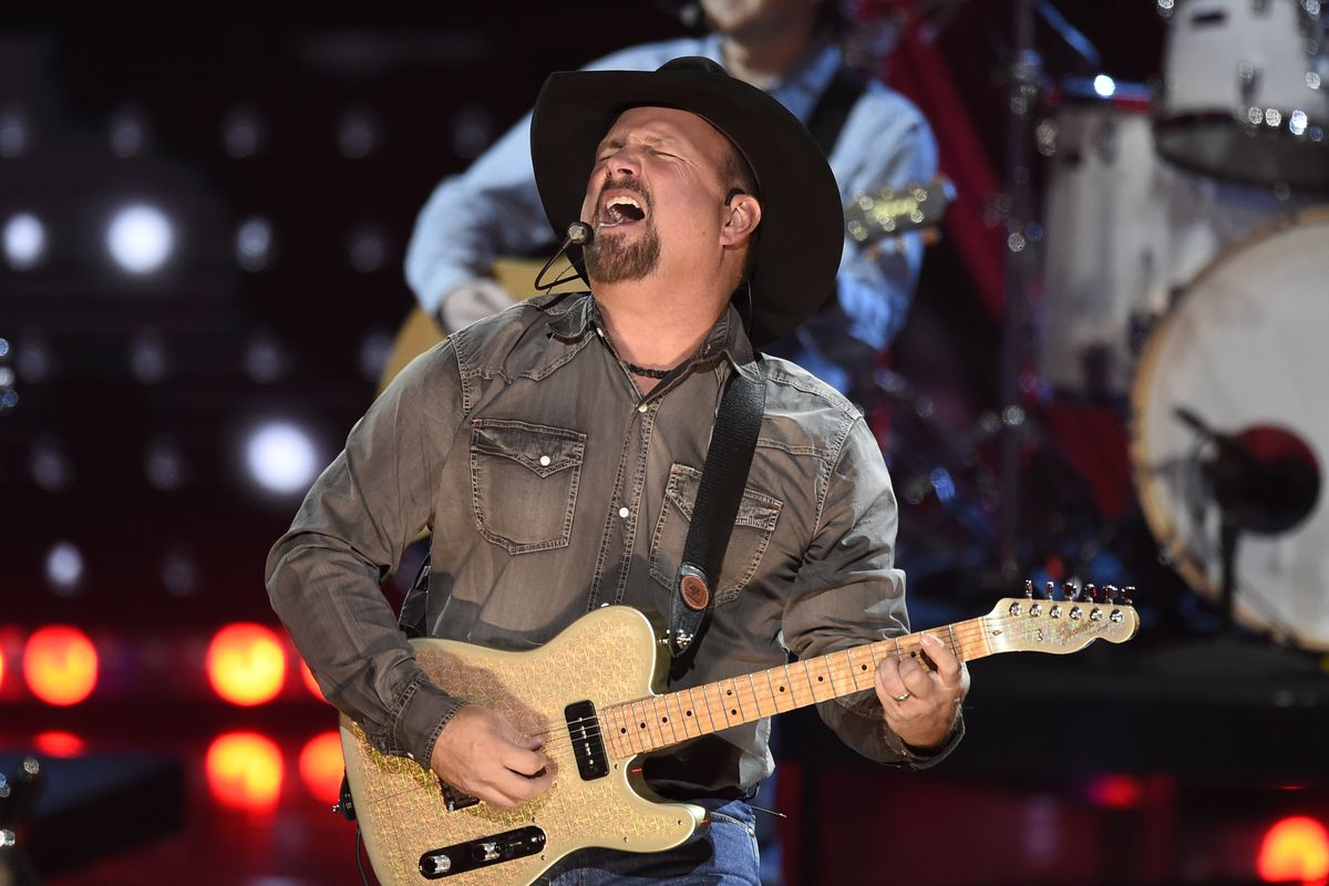 Garth Brooks performs at the iHeartRadio Music Awards in Los Angeles in 2019.