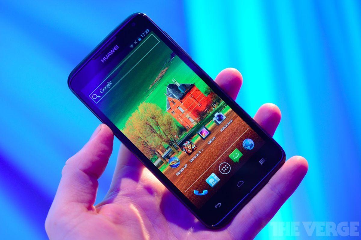 Huawei Ascend D quad hands-on shot
